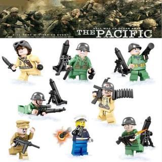 【送料無料】レゴ互換 特殊部隊 SWAT8体セット 武器多数  ⑩ 00088(ミリタリー)