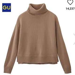 GU - サイドスリットタートルネックセーター