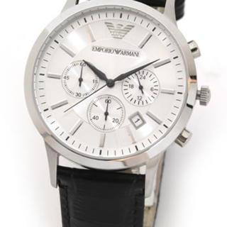 エンポリオアルマーニ(Emporio Armani)の新品☆未使用 エンポリオアルマーニ 腕時計 メンズ ブラック(腕時計(アナログ))