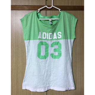 アディダス(adidas)のadidas アディダス 半袖Tシャツ ジュニアサイズ グリーン(トレーニング用品)