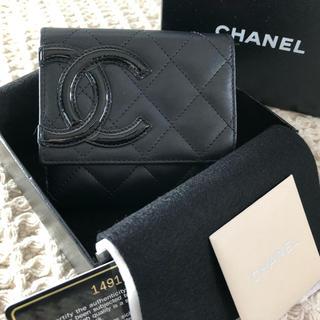 CHANEL - CHANEL❤︎カンボンライン 折財布