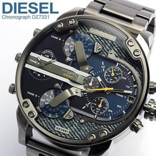 ディーゼル(DIESEL)のガンメタ×デニムで大人気★DIESELディーゼルDZ7331★新品1年保証(腕時計(アナログ))