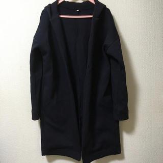 MUJI (無印良品) - 【無印良品】綿混二重編みフード付コート