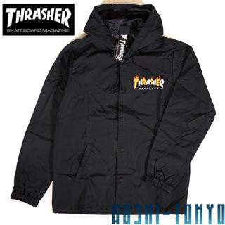 スラッシャー(THRASHER)の◆THRASHER  Flame mag フード コーチジャケット / Mサイズ(ナイロンジャケット)