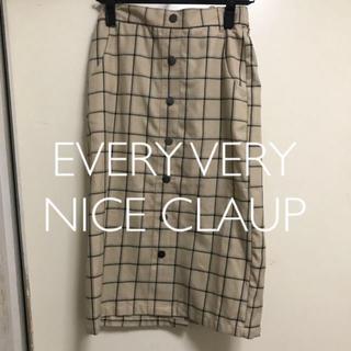 ナイスクラップ(NICE CLAUP)のEVERY VERY NICE CLAUP  チェック柄スカート(ひざ丈スカート)