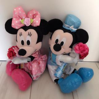 ディズニー(Disney)のミッキー&ミニー 結婚式 ウェルカムドール(ぬいぐるみ)