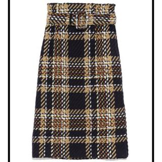 ミラオーウェン(Mila Owen)のミラオーウェン  ツイードチェックタイトスカート (ロングスカート)