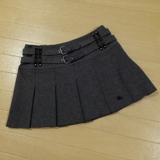 バーバリーブルーレーベル(BURBERRY BLUE LABEL)のバーバリーブルーレーベル カタログ掲載グレー系薄手プリーツミニスカート36(ミニスカート)