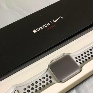 アップルウォッチ(Apple Watch)のApple Watch series3 GPSセルラーモデル42mm(スマートフォン本体)