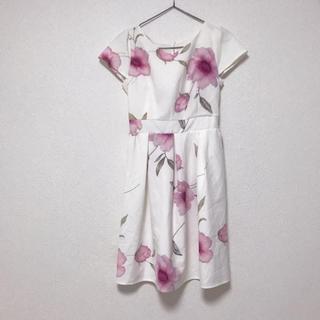 tocco - セシルマクビー 花柄 ピンク ホワイト ぼかし ワンピース