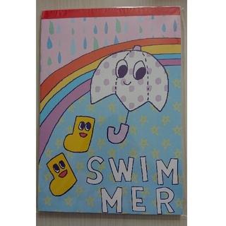 スイマー(SWIMMER)の新品!未使用!わくわく落書き帳 レイニー レインボー SWIMMER(スイマー)(ノート/メモ帳/ふせん)