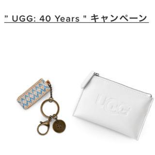 アグ(UGG)の新品♡UGG ノベルティ ポーチ付きキーチェーン(キーホルダー)