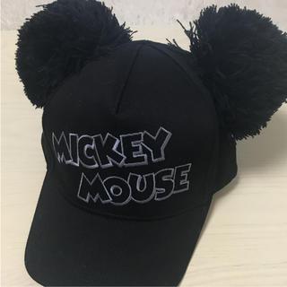 ディズニー(Disney)のミッキーポンポンキャップ ブラック(キャップ)