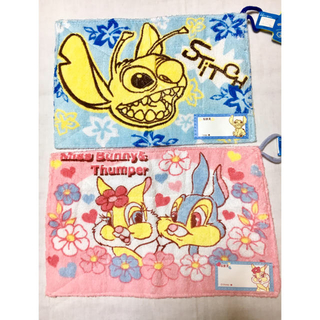 ディズニー(Disney)のDisney スティッチ&ミスバニーの雑巾セット(日用品/生活雑貨)