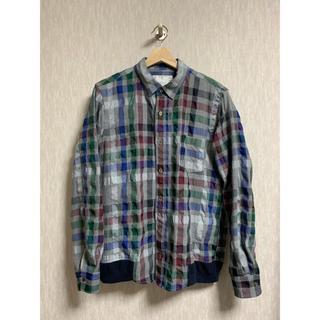 サカイ(sacai)のsacai 18SS シャツジャケット チェック総柄(ブルゾン)