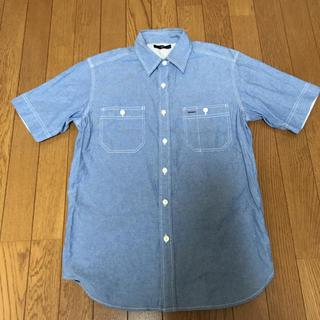 ジーユー(GU)のGU☆ブルー 半袖シャツ (シャツ/ブラウス(半袖/袖なし))