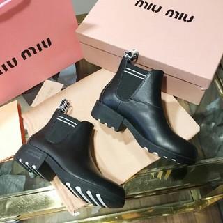 ミュウミュウ(miumiu)のmiumiu ミュウミュウ  ショートブーツ(ブーツ)