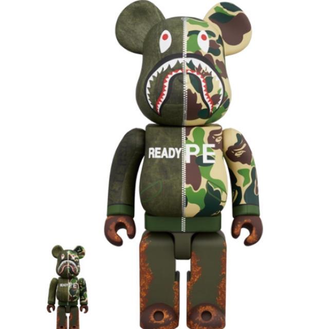 MEDICOM TOY(メディコムトイ)の送料込 beabrick readymade ape 100% & 400% エンタメ/ホビーのフィギュア(その他)の商品写真