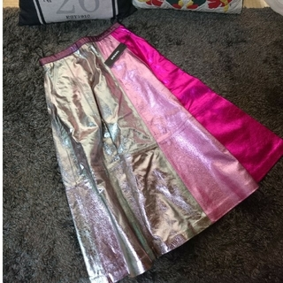 ディーゼル(DIESEL)の新品未使用☆DIESEL 9.8万円 ラムレザー スカート(ひざ丈スカート)