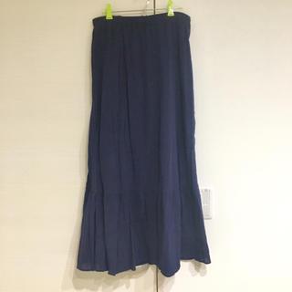 UNIQLO - UNIQLO♡ロングスカート♡ネイビー♡紺♡gu.MUJI.soulberry