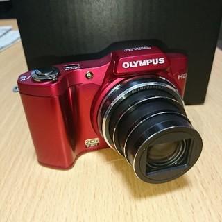 オリンパス(OLYMPUS)の美品 オリンパス SZ-11 1400万画素 デジカメ レッド(コンパクトデジタルカメラ)