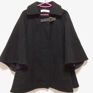ユナイテッドアローズ(UNITED ARROWS)のUNITED ARROWS コート 黒 ユナイテッドアローズ ポンチョ型(ポンチョ)
