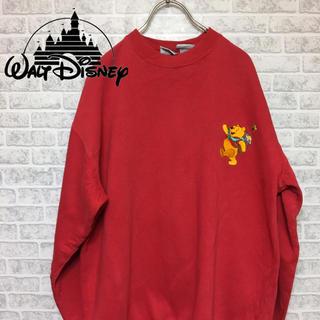 ディズニー(Disney)のDisney pooh プーさん 刺繍ワンポイント スウェット Lサイズ(スウェット)