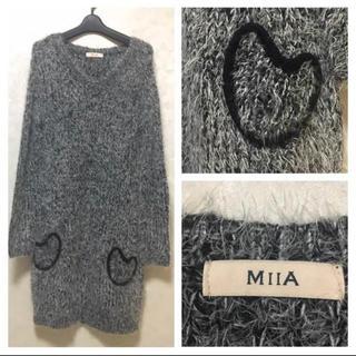 MIIA - MIIA ニットワンピース