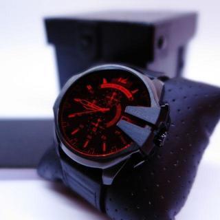 ディーゼル(DIESEL)の個性が光る赤レンズ★DIESELディーゼル DZ4460★3年保証(腕時計(アナログ))