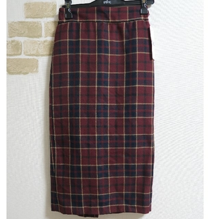 GU - GU*タータンチェックナローミディスカート