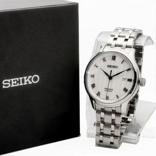 セイコー(SEIKO)のSEIKO プレザージュ 型打ち白文字盤 自動巻き腕時計メンズ SRPC79J1(腕時計(アナログ))
