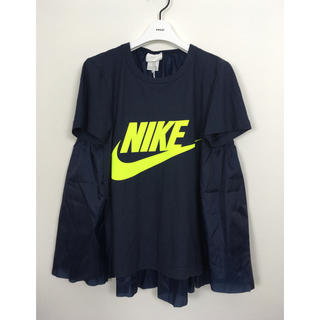 サカイ(sacai)のsacai × NIKE サカイ ナイキ バックフリル Tシャツ(Tシャツ(半袖/袖なし))