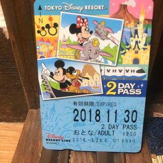 ディズニー(Disney)のディズニー リゾート ライン  2days パス 未使用(遊園地/テーマパーク)