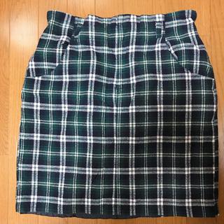 タイトチェックスカート(ひざ丈スカート)