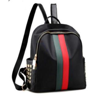❤︎ 大人気 ❤︎ リュック バッグ 高級感 赤緑ライン ブラック(リュック/バックパック)