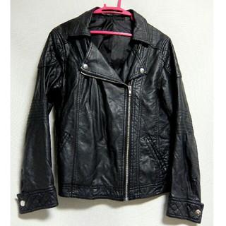 ジーユー(GU)のGU ◆ライダースジャケット 黒(ライダースジャケット)
