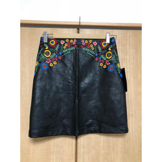 ザラ(ZARA)のZARA 刺繍スカート(ミニスカート)