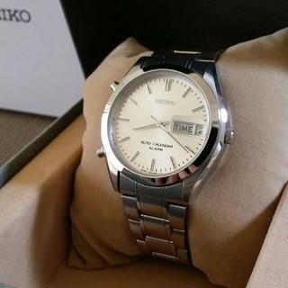 セイコー(SEIKO)の希少美品 セイコー オートカレンダー・アラーム シルバー(腕時計(アナログ))