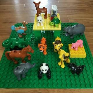 【新装!動物セット・15点!】アンパンマンブロックラボ レゴデュプロ互換品(積み木/ブロック)