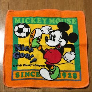 ディズニー(Disney)の【新品】ミッキーマウス ウォッシュタオル(ハンカチ)