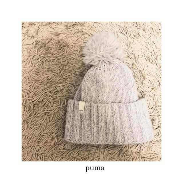 PUMA(プーマ)のpuma ポンポンニット帽 ウィンタースポーツにも◎ レディースの帽子(ニット帽/ビーニー)の商品写真