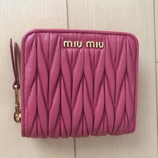 ミュウミュウ(miumiu)の新品ミュウミュウ折財布(財布)