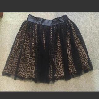レオパードスカート(ひざ丈スカート)