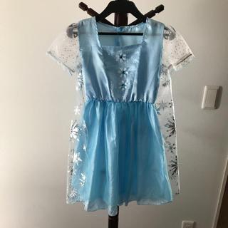 アナトユキノジョオウ(アナと雪の女王)のアナと雪の女王 エルサ風ドレス サイズ110〜120 ハロウィン(衣装)