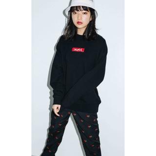 エックスガール(X-girl)のX-girl エックスガールBOX LOGOスウェットトレーナー黒2(トレーナー/スウェット)