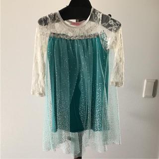 アナトユキノジョオウ(アナと雪の女王)のアナと雪の女王 エルサ風ドレス サイズ110(ワンピース)
