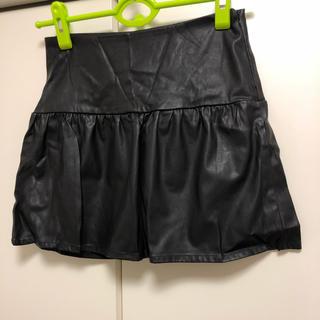 ザラ(ZARA)の美品ZARAレザースカート(ミニスカート)
