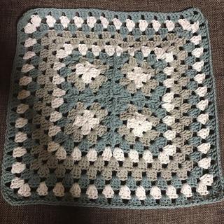 かぎ針編み グラニースクエアマット(雑貨)