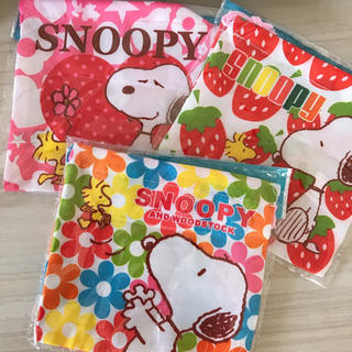 スヌーピー(SNOOPY)の【スヌーピー】巾着 3枚セット(ランチボックス巾着)