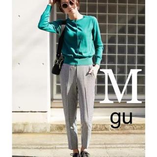 GU - gu ジーユー 新品タグ インスタ人気 ギンガムチェック  テーパードパンツ M